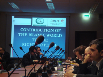 """CONTRIBUTION OF THE ISLAMIC WORLD TO THE RIGHT TO PEACE"""